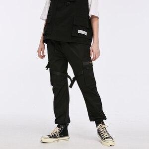 Image 2 - Aelfric Eden Ribbons 힙합 카고 바지 남성용 블랙 포켓 Streetwear 하라주쿠 Techwear 바지 바지 Harem Joggers Sweatpants