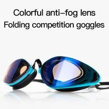 2020new ultra espelhado óculos de natação para homem profissional corrida óculos padrão natação ajustável velocidade silicone
