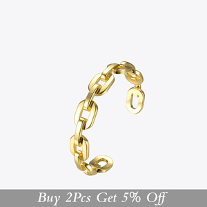 Image 2 - Enfashion Pure Form Medium Link Chain Cuff Bracelets & Bangles For Women Gold Color Fashion Jewelry Jewellery Pulseiras BF182033