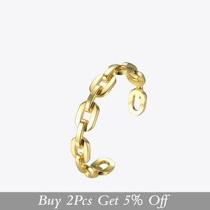 Image 2 - Enfashion Zuivere Vorm Medium Link Chain Manchet Armbanden & Armbanden Voor Vrouwen Goud Kleur Mode sieraden Sieraden Pulseiras BF182033
