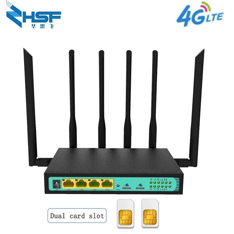 4G Wifi Dual Sim Router Industrial Gigabit GSM LTE Router VPN PPTP L2TP Unlocked 4g Router Sim Card
