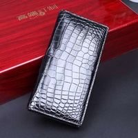 2020 SS Genuine Crocodile leather bil fold wallet men Aligator Belly Leather long purse wallet mens purse leather