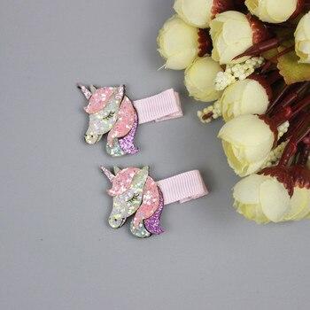 Bonita horquilla bebé niña pony de dibujos animados Arco Iris amor pico de pato pinza flequillo clip accesorios para el cabello de los niños