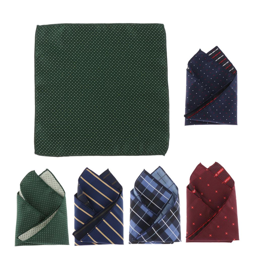 Cotton Handkerchiefs For Men & Women - Retro Plaids / Dots / Stripes Hankies, Fashion Pocket Squares Gifts
