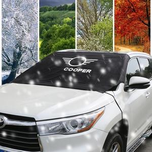 Image 4 - Car Windshield Snow Ice Dust Block Sun Shade Cover For MINI Cooper F57 Cabrio F54 CLUBMAN S R60 Countryman R61 Auto Accessories