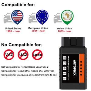 Image 4 - Mini ELM327 Bluetooth OBD2 v1.5 ELM 327 with PIC18F25K80 Chip OBD2 Adapter Elm 327 OBDII Auto Diagnostic Tool OBD2 Scanner