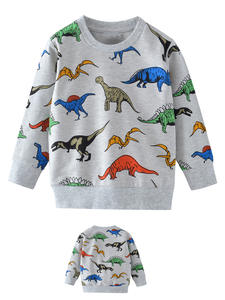 SAILEROAD Boys Sweatshirts Dinosaur Kids Hoodies Long-Sleeve Autumn Little Children Cartoon