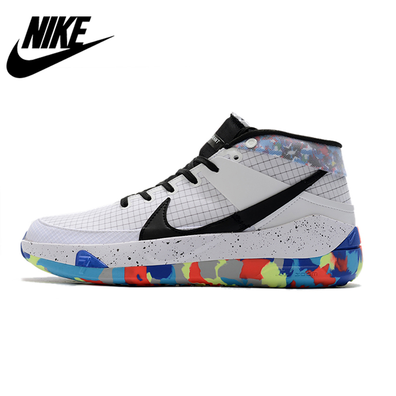Nike KD13 Kevin Durant Actual Combat Basketball Shoes Sneakers Sports for Men Medium Cut Hard Court Breathable EVA