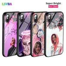 Black Silicone Case Lil Peep for iPhone X XR XS Max for iPhone 8 7 6 6S Plus 5S 5 SE Super Bright Glossy Phone Case black cover japanese samurai for iphone x xr xs max for iphone 8 7 6 6s plus 5s 5 se super bright glossy phone case