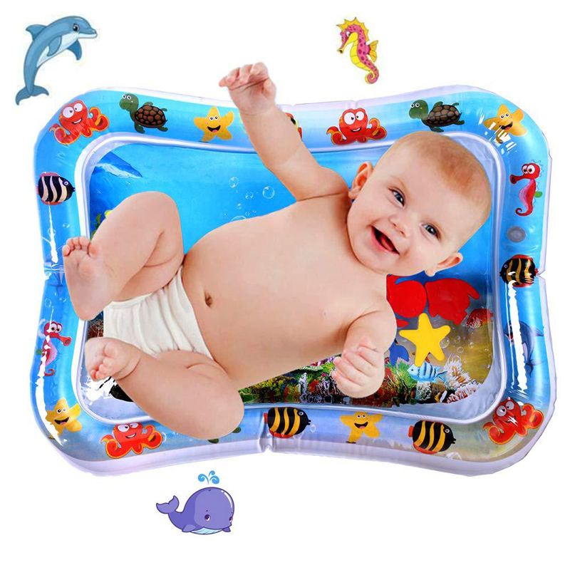 Baby Play Water Mat Inflatable Infants Tummy Time Playmat Toys for Kids Mat Summer Swimming Beach Pool Game Baby Gyms Mat