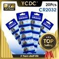 YCDC 20 stücke 3 V Volt CR2032 Münze Batterie Lithium-Ionen Wichtigsten Bord Fernbedienung Batterie Ersatz DL2032 KCR2032 BR2032 KL2032