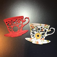 45*32mm Beautiful coffee cup new Metal Cutting Dies for decoration card DIY Scrapbooking stencil Paper Craft Album template