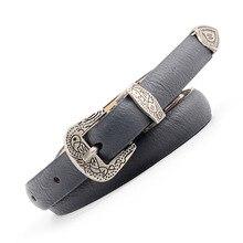 HUOBAO New Vintage PU Leather Waist Belts For Women Dress Metal Boho Hip Punk Rock Female Belt Waistband