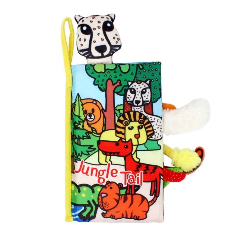 Мягкая детская тканевая книга Y4UD для раннего развития, детская игрушка, обучающая объемная тканевая книга с животными, Интерактивная мульт...