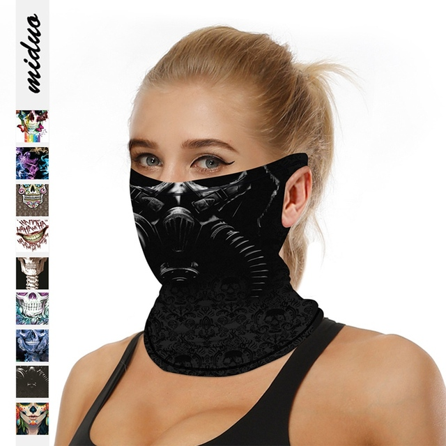 Riding Hood Digital Printed Outdoor Sunscreen Cool Ice Silk Breathable Mask Cool Hanging Ear Scarf Quick-Drying 4