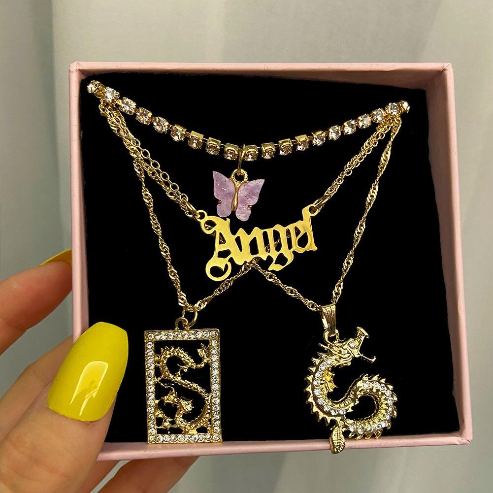 Женское ожерелье с подвеской в виде ангела дракона just feel