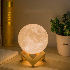 Table Moon LED Night Light LED Night Light Atmosphere light 3D Print Moon Lamp LED Night Light Children's Night Lamp for Home