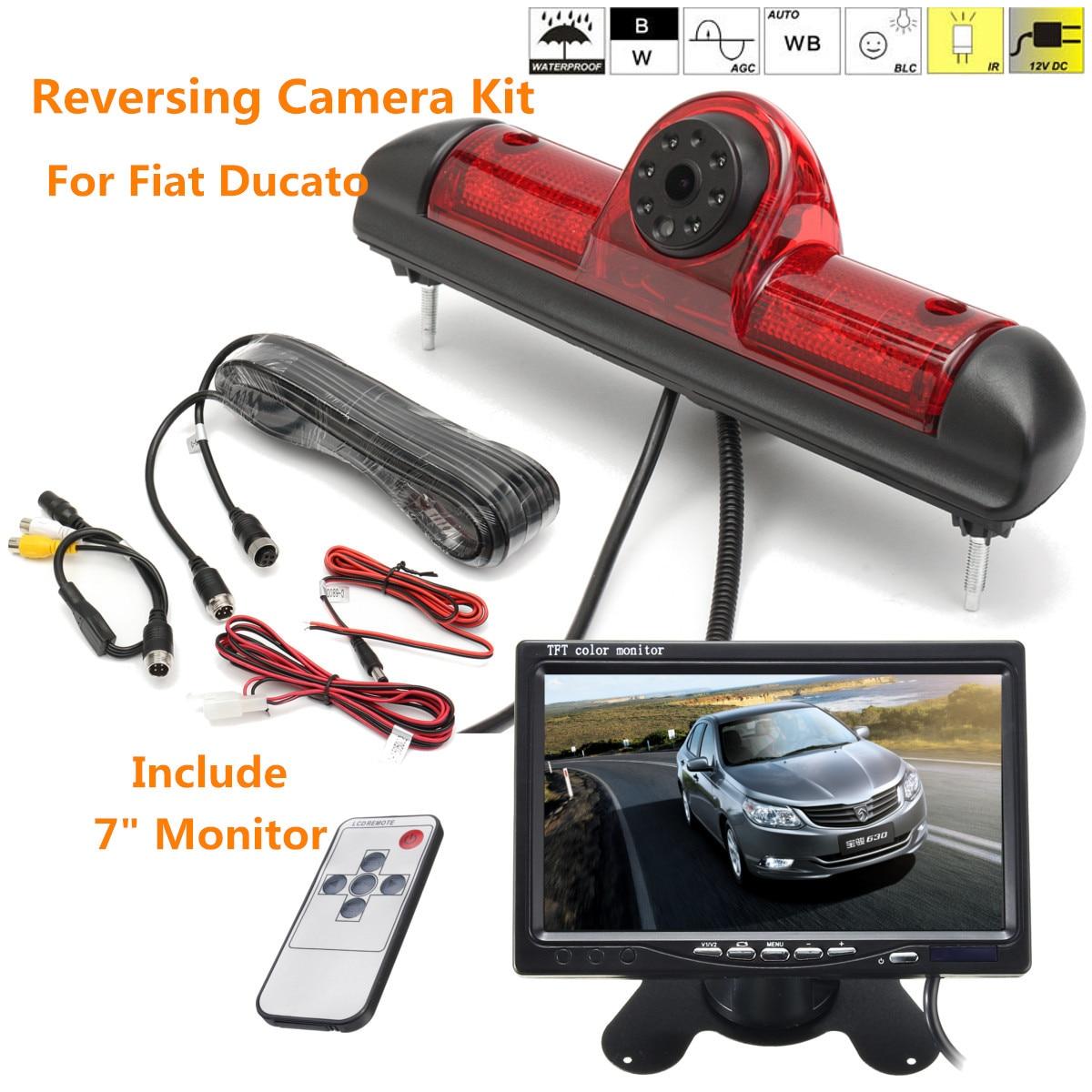 Podofo беспроводная камера заднего вида и ИК ночного видения 7 автомобильный монитор Комплект для грузовика автобуса каравана прицепа обратн... - 2