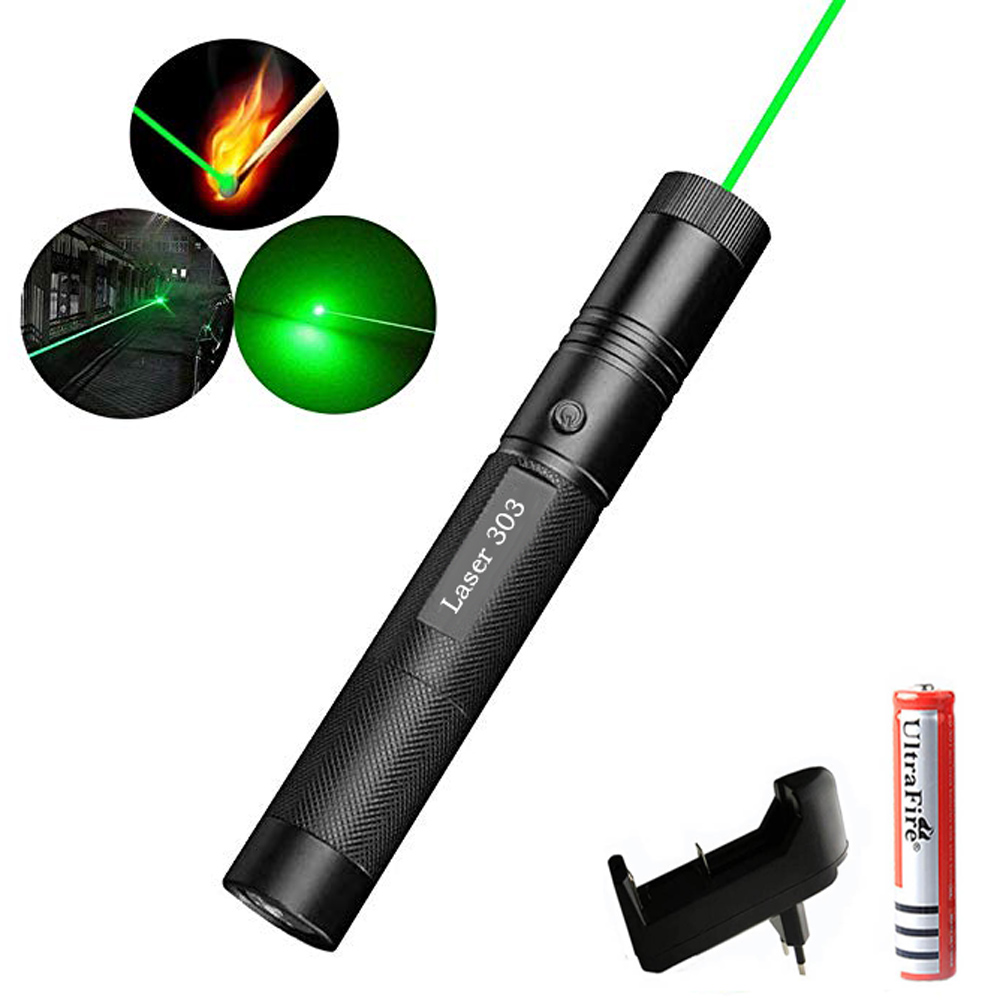 10Mile Green Laser Pointer Pen Astronomy hight Powerful red purple lazer Cat Toy Adjustable Focus Burning laser Battery+Charger