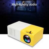 ViviBright Mini Projector J9 HD Home Projector Theater Support 1080P AV USB Micro SD Card USB Portable Pocket Beamer VS YG 300