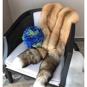 Image 5 - Ms. minshu Dài Cáo Lông Khăn Choàng Cao Cấp Chính Hãng Fox Da Khăn Choàng Toàn Cáo Da Đã Lấy Trộm Có Đuôi Tự Nhiên Cáo Khoác Nỉ
