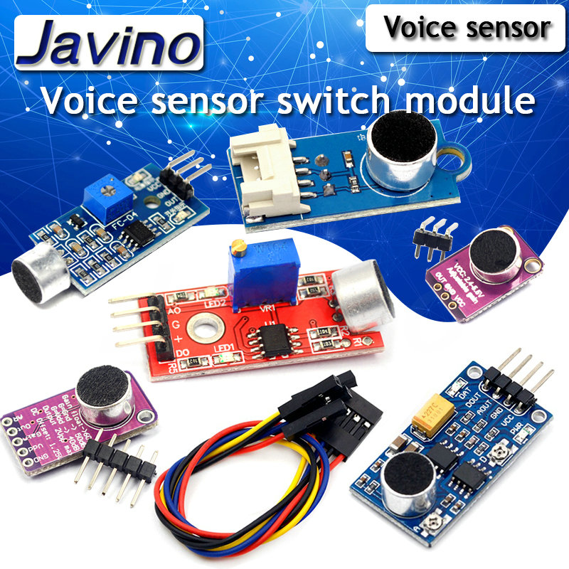 Sound Sensor Module Voice Sensor Switch Sound Detection Whistle Switch Microphone Amplifier Diy Kit For Arduino