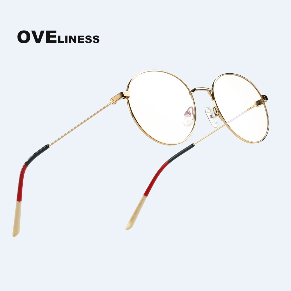 Pure Titanium Retro Round Glasses Frame Women Transparent Ultralight Eyeglasses Prescription Men Myopia Optical Frame Eyewear