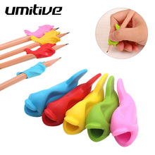 Umitive 6pcs Silicone Fish Holding Pen Environmental Protection Children Students Pencil Aid Grip Set Posture Correction Tool