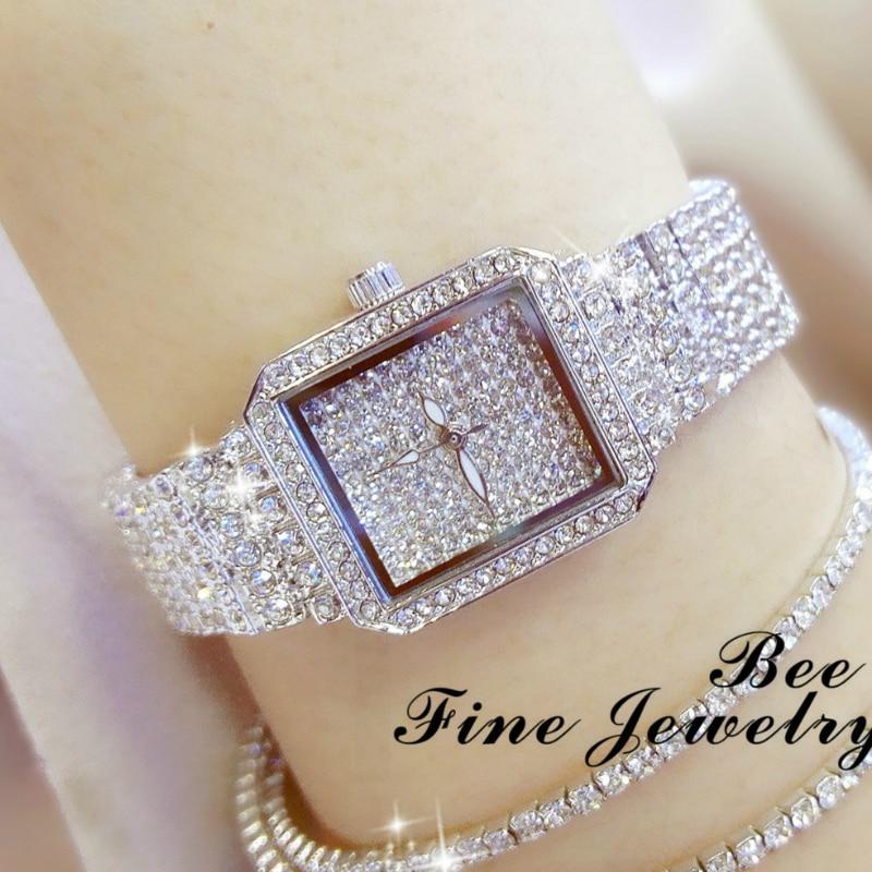 BS Hot Sales Watch Top Grade Chained WOMEN'S Watch Full Crystal  Reloj De Mujer Women Watches Luxury Ladies Watch Date Clock