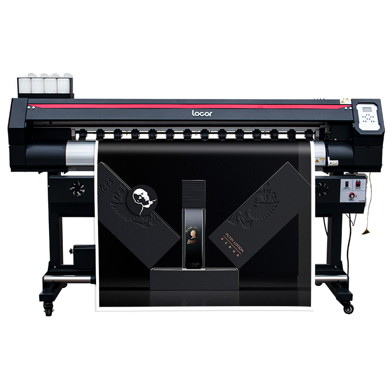 Locor automatic inkjet printer1.6m high speed <font><b>digital</b></font> car wrap eco solvent printer large image <font><b>billboard</b></font> printer image