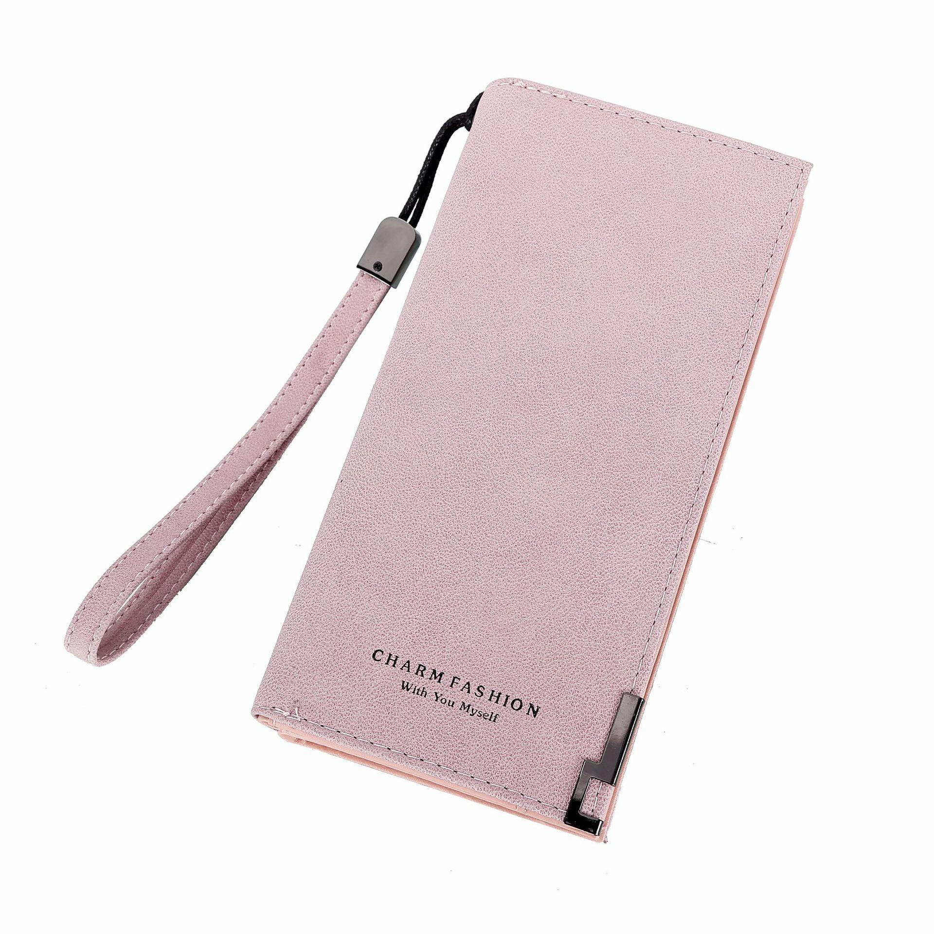 Женские кошельки, модная женская барсетка с ремешком на руку, сумки, длинная сумка для денег, на молнии, кошелек для монет, для карт, ID держатель, клатч, женский кошелек, Burse Notecase - Цвет: Pink