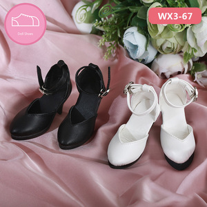 Image 5 - Shoes For Doll BJD leather shoes Toy Mini Doll Shoes 1/3  For switch BJD Dolls WX3 46 black /45 white 3 colors Doll Accessories