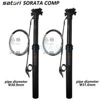Satori height adjustable seatpost dropper 125mm travel post bike MTB external routing 30.9mm 31.6 440 remote seat post