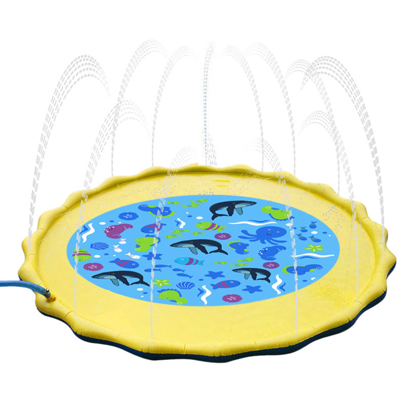 Baby Toys Outdoor Lawn Beach Sea Animal Inflatable Water Spray Baby Mat Play Pad Mat Water Cushion Baby Bath Toys Jouet Bebe