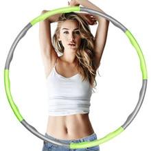 9/8/7 knot spor Hoop çıkarılabilir PE çember Yoga bel egzersiz zayıflama spor Hoop masaj döngü spor daire kapalı spor salonu