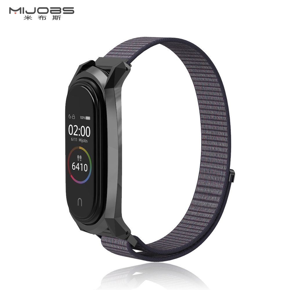 For Mi Band 4 Strap Nylon Sport Loop Replacement Strap For Xiaom Mi Band 3 Bracelet Wriststrap
