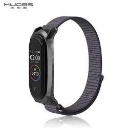 Untuk Mi Band 4 Tali Nilon Olahraga Loop Pengganti Tali untuk Xiaom Mi Band 3 Gelang Wrist Strap