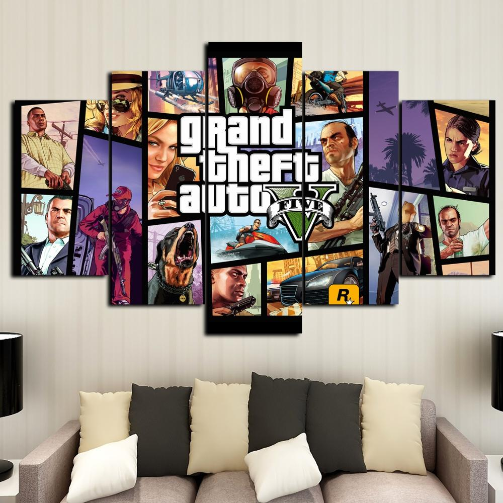 A1 - A5 SIZES AVAILABLE GTA V 5 GAME GLOSSY WALL ART POSTER PRINT