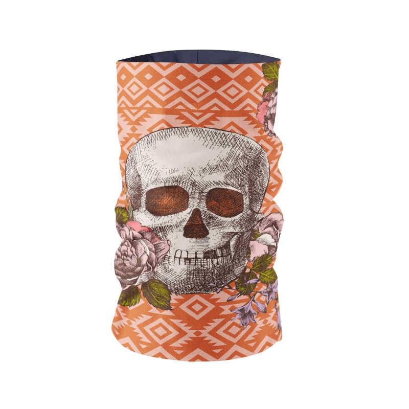 Новая мода череп труба шарф бандана для мотоцикла, велосипеда шарф подарки Многофункциональный бесшовный солнцезащитный трубчатый шарф