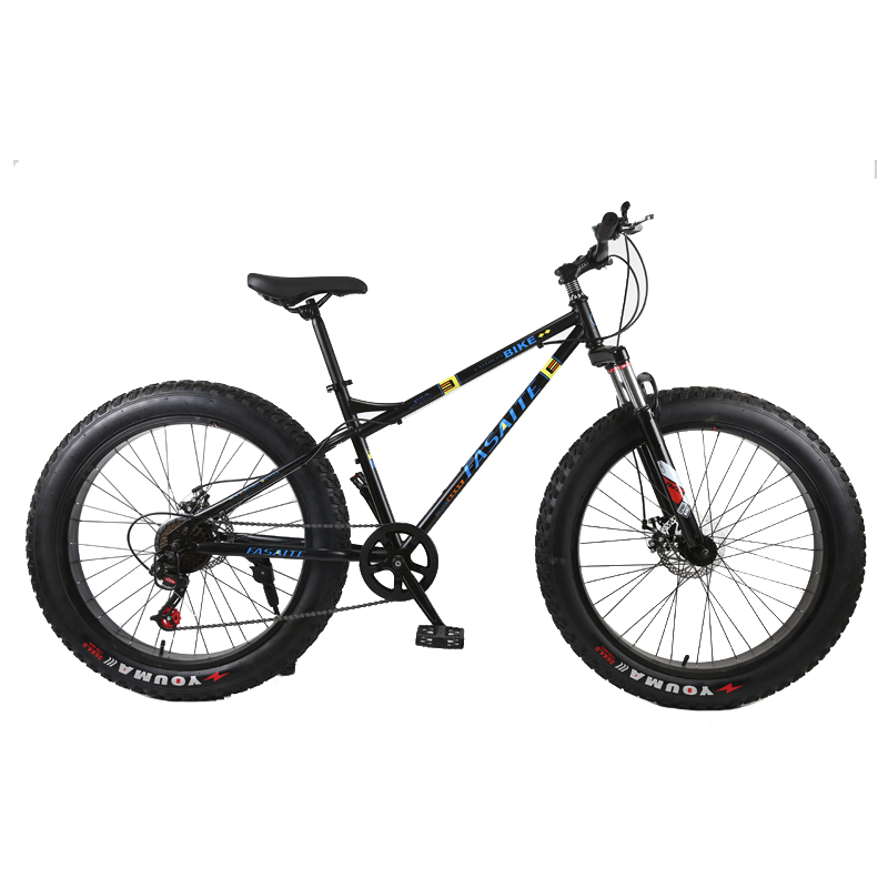 New Mountain Bike 4.0 Fat Tire Mountain Bicycle 24/26 Inch High Carbon Steel Beach Bicycle Snow Bike