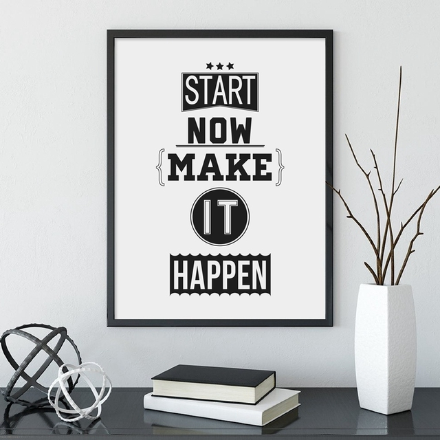 Motivational Quotes Posters and Prints Inspirational Canvas Painting Den Office Gym Wall Art Decor
