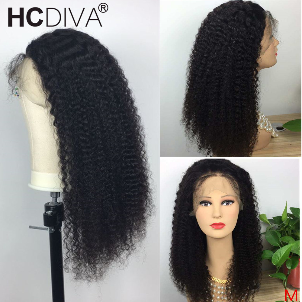 360 Lace Frontal Wig Kinky Curly Human Hair Wigs Pre Plucked With Baby Hair 180% Brazilian Remy Lace Frontal Wigs For Women