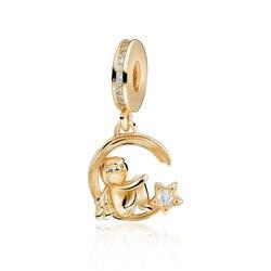 Trendy 100% 925 Sterling Silver Beads Shine Shooting Angel of Love Dangle Charm fit Original Pandora Bracelets Lady DIY Jewelry