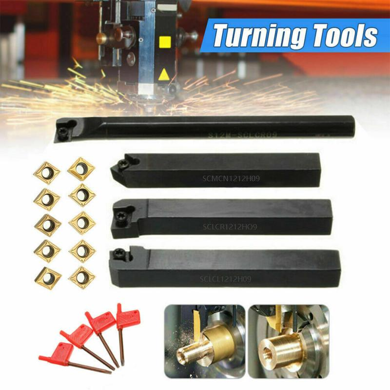 18PC Automobile Repair Tool Lathe Turning Tool Holder CCMT09T304 Carbide Inserts T15 Wrench Kit Car Accessories Disassembly Tool