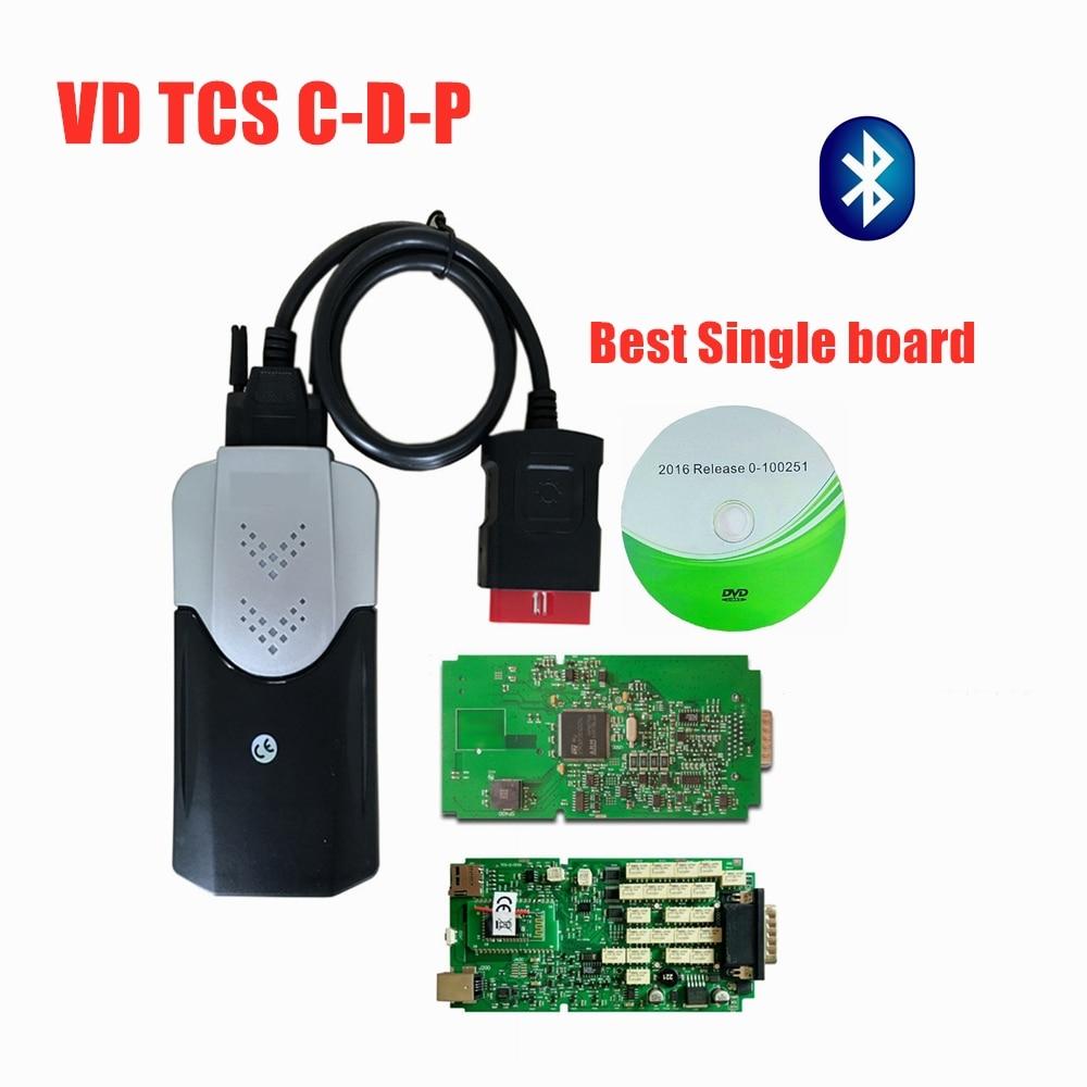 A + 품질 단일 보드 NEC 릴레이 블루투스 2016.00 /2015.3 Diagnostlc 도구 자동차/트럭 OBD2 스캐너 Mvd Multidiag