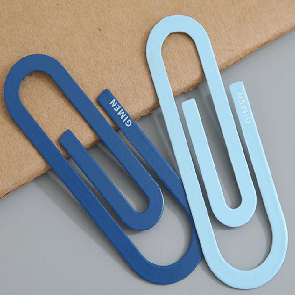 2 Pcs/lot Cute Kawaii Large Metal Paper Clip Bookmark Office School Supplies Stationery Paperclips