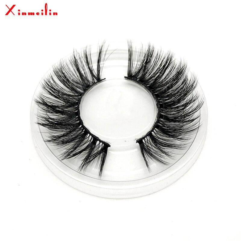 50 pairs 6D faux mink lashes wholesale natural long individual thick fluffy dramatic makeup volume false eyelashes with lash box - 6