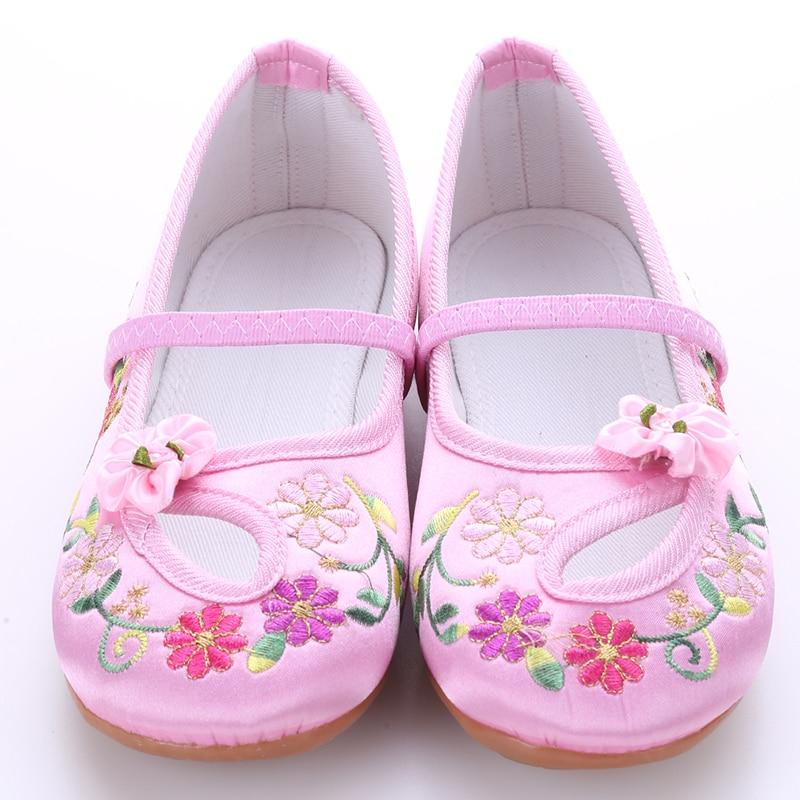 Тканевая обувь в стиле «Старый Пекин»; детская обувь с вышивкой в национальном стиле; летняя и Осенняя детская обувь; дышащая шелковая