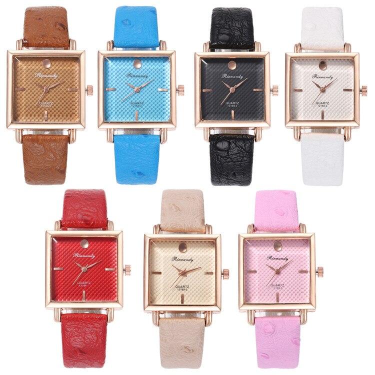 Fashion Belt Series Bracelet Watch Exquisite Multicolor Square Diamond Watches Joker Lady Wrist Watch