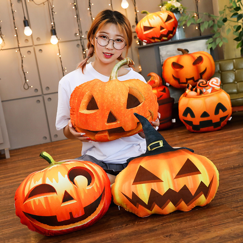 Soft Stuffed Plush Plants Doll Funny Halloween Pumpkin Plush Toys Pillow Vegetabl Kids Toy Gift